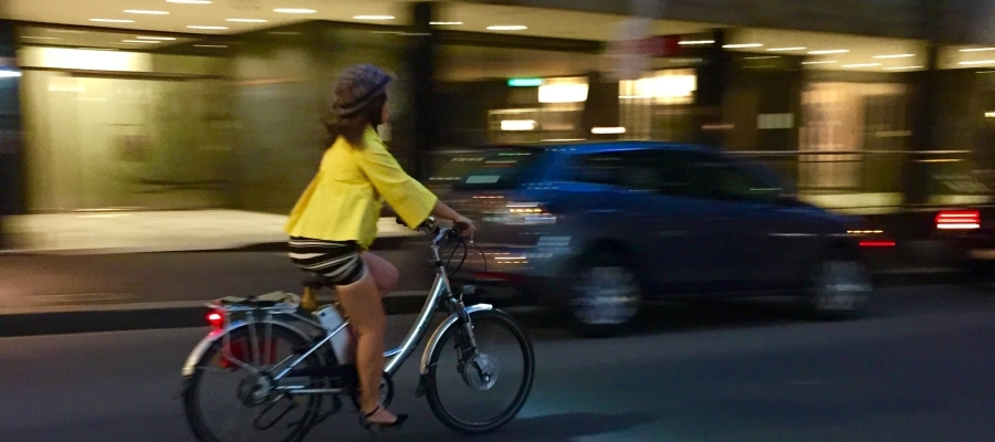 Going home on a Saturday – by Vélo-à-Porter